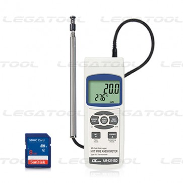 AM-4214SD Hot wire Anemometer - SD Data Logger