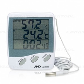 AND AD-5680 Temperature/ Humidity Meter