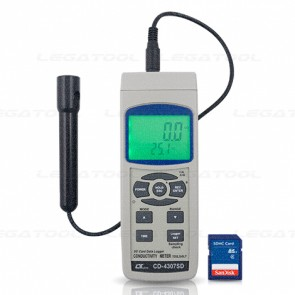 CD-4307SD Conductivity/ TDS/ Salt Meter - SD Card Data Logger