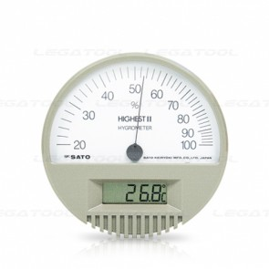 HIGHEST II Hair Hygrometer with Digital Thermometer
