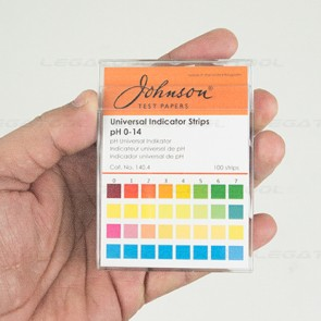 Johnson JS-140-4 แถบวัดค่าพีเอช Universal Indicator Strips | pH 0-14 (100 strips/pack)