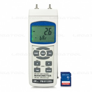 PM-9112SD Manometer - SD Card Data Logger (2.9 psi)