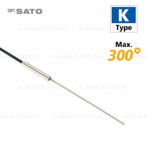 SK Sato MC-K7105 โพรบวัดอุณหภูมิ Duplex wire probe (Stainless steel shield wire) Max.300℃ (Type K)