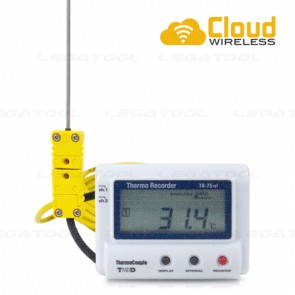 T&D TR-75wf เครื่องบันทึกอุณหภูมิ (Cloud Network) | Type K, J, T, E, S, R (Digital Thermometer)
