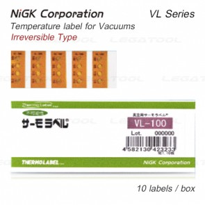 NiGK VL Series แถบวัดอุณหภูมิแบบ Irreversible & single use | 40 to 210°C | 10pcs/ 1pack