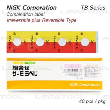 NiGK TB Series Temperature Combination label | 65 to 90°C | 40pcs/ 1pack