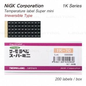 NiGK 1K-Series แถบวัดอุณหภูมิแบบ Single-point | 40 to 125℃ | 200pcs/pack