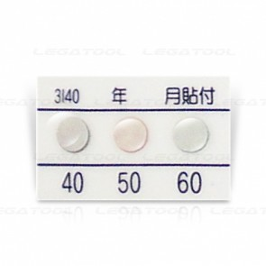 Rixen 3I40-P20 Temperature label 3 points (40/50/60°C) | 20pcs/ 1pack