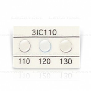 Asey 3IC110-P20 Temperature label 3 points (110/120/130°C) | 20pcs/ 1pack