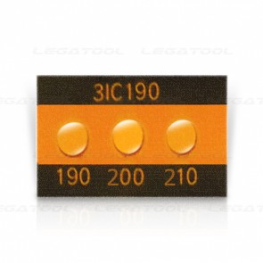Asey 3IC190 Temperature label 3 points (190/200/210°C) | 20pcs/ 1pack