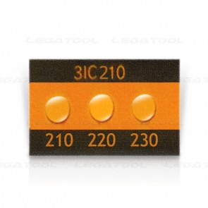 Asey 3IC210 Temperature label 3 points (210/220/230°C) | 20pcs/ 1pack