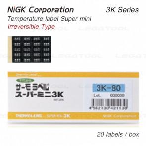 NiGK 3K Series แถบวัดอุณหภูมิแบบ Irreversible | 40 to 150°C | 20pcs/ 1pack