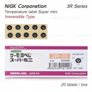 NiGK 3R Series แถบวัดอุณหภูมิแบบ Irreversible | 40 to 150°C | 20pcs/ 1pack