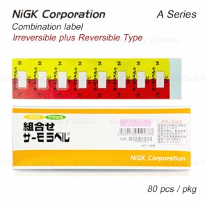 NiGK A Series Temperature Combination label | 65 to 90°C | 80pcs/ 1pack