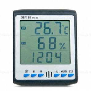 DER EE DE-22 เครื่องวัดอุณหภูมิและความชื้น