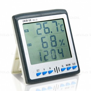 DER EE DE-22 Thermo-Hygrometer with Alarm clock