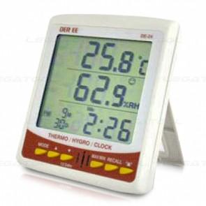 DER EE DE-24 เครื่องวัดอุณหภูมิและความชื้น 4in1