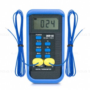 DE-3004 เครื่องวัดอุณหภูมิดิจิตอล 2 Channel