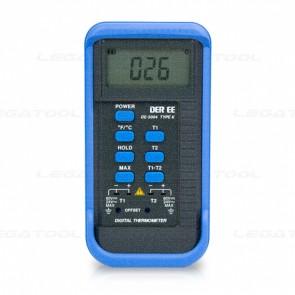 DER EE DE-3004 Digital Thermometer 2 Channels