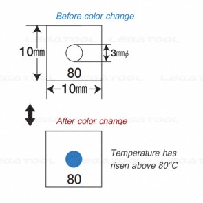 NiGK F-Series แถบวัดอุณหภูมิแบบ Single-point | 50 to 125℃ | 40pcs/pack