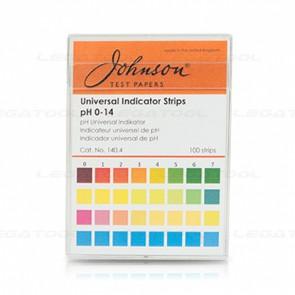 Johnson JS-140-4 แถบวัดค่าพีเอช Universal Indicator Strips | pH 0-14 (100 strips/pack)