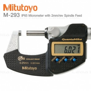 Mitutoyo M-293 QuantuMike Micrometers Series with 2mm/rev Spindle Feed