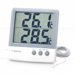 SK Sato PC-6800 Two point Digital Thermometer (Indoor & Outdoor)