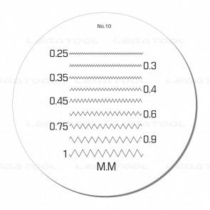 Peak PS-10-10X Reticle Scales No.10