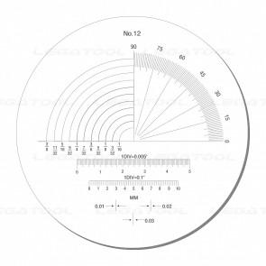Peak PS-12-10X Reticle Scales No.12