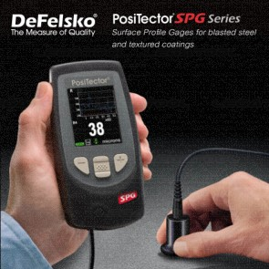 Defelsko PosiTector PRB-SPG Series เครื่องวัดลักษณะของพื้นผิวเคลือบ