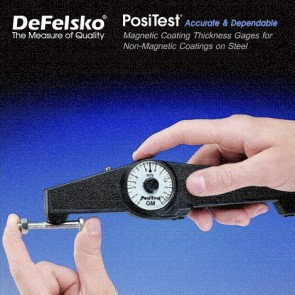 DeFelsko PosiTest Series Magnetic Coating Thickness Gages for Non-Magnetic Coatings on Steel