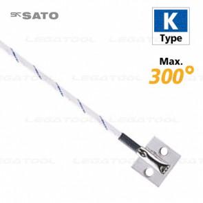 sk Sato MC-K7304 โพรบวัดอุณหภูมิพื้นผิวมีรูสำหรับยึดติด Max.300℃ (Type K)