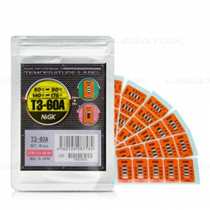 NiGK T3-60A Temperature Label (60 to 80℃) | 40pcs/ 1pack
