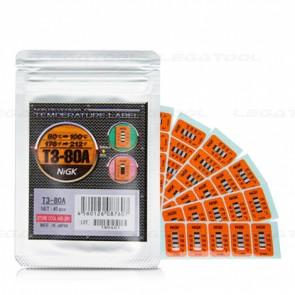 NiGK T3-80A Temperature Label (80 | 90 | 100℃) | 40pcs/ 1pack