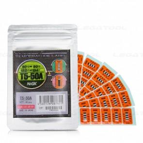 NiGK T5-50A Temperature Label (50   60   70   80   90℃)   40pcs/ 1pack