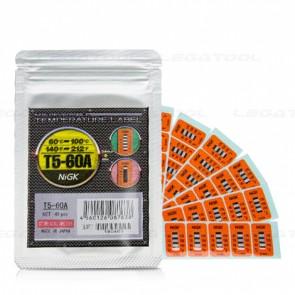 NiGK T5-60A Temperature Label (60 | 70 | 80 | 90 | 100℃) | 40pcs/ 1pack