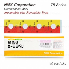 NiGK TB Series Temperature Combination label | 65 to 90°C | 40pcs/ 1pack