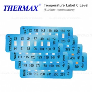 THERMAX 6 Series Temperature Label 6 Level Mini Strips