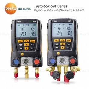 Testo-55x-Set Series เกจวัดน้ำยาแอร์แบบดิจิตอลสำหรับงาน HVAC (Bluetooth) (Vacuum gauge)