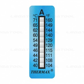 THERMAX 10A Temperature Label 10 Level Strips
