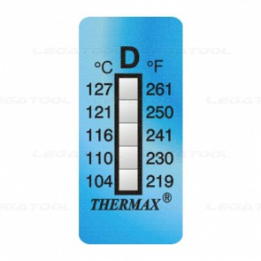 THERMAX 5D Temperature Label 5 Level Strips