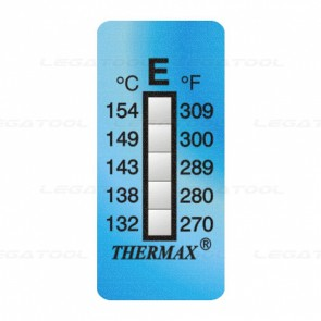 THERMAX 5E Temperature Label 5 Level Strips