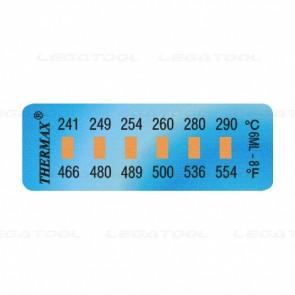 THERMAX 6-8 Temperature Label 6 Level Mini Strips