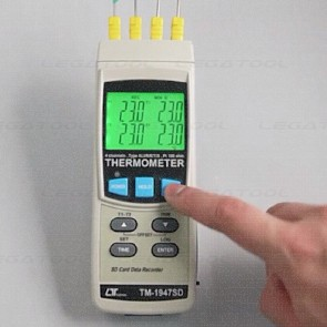 Lutron TM-1947SD 4-Channels Thermometer data logger | SD Card