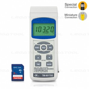 Lutron TM-9017SD 3 Channels Datalogger PT100 ohm   SD Card