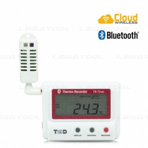 T&D TR-72wb Temp & Humidity Logger (Cloud Network) | Bluetooth® & Wireless LAN