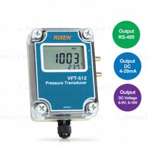 Rixen VFT-512 เครื่องวัดความแตกต่างของความดันต่ำ | Output 4-20mA/ 0-5V/ 0-10VDC/ RS-485