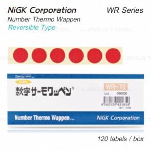 NiGK WR Series แถบวัดอุณหภูมิแบบ Reversible single temp. | 40 to 70°C | 120pcs/ 1pac