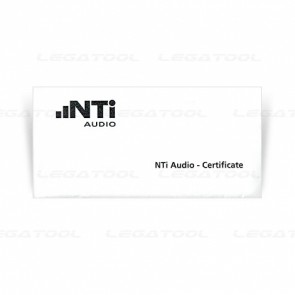 NTi XL2-CAL Manufacturer Calibration Certificate for XL2