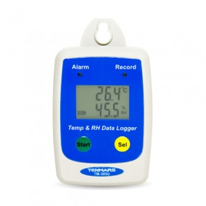 Tenmars TM-305U Temperature and Humidity Data Logger | IP65